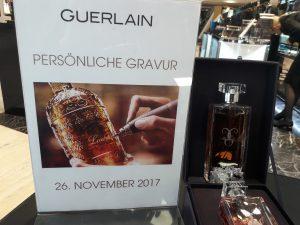 Guerlain Glasgravur Promoaktion