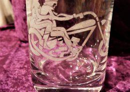 Whisky Karaffe mit Motiv Motorrad & Fahrer