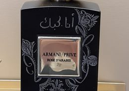 Armani Flacon und arbabische Schrift