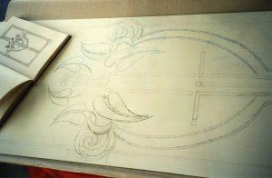 Entwurf für Türe