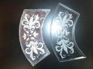 Vorher /Nachher: Restauration von venezianischen Spiegelteil